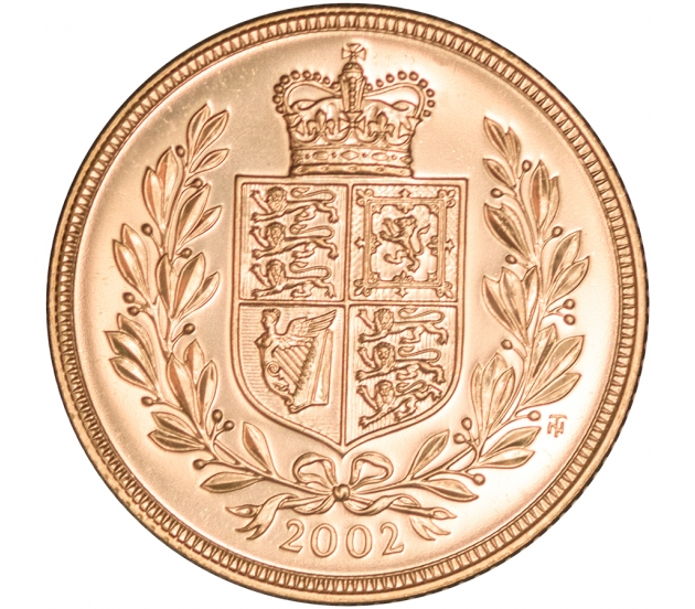 2002 Queen Elizabeth II Gold Sovereign